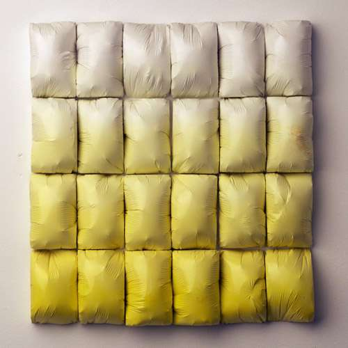 Ombre Plastic Pillow Installations