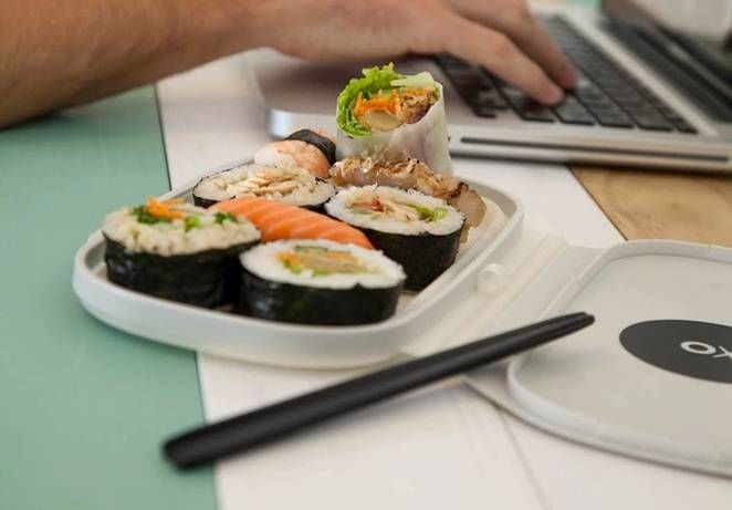 Flat-Pack Sushi Containers