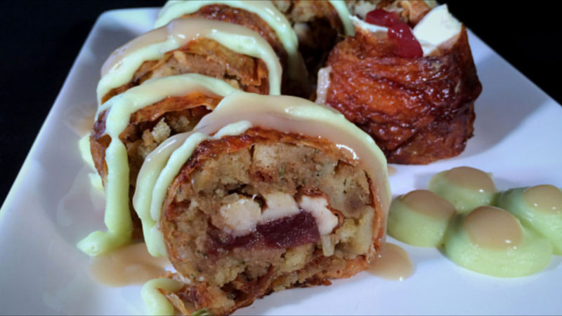 Turkey And Cranberry Sushi Recipe — Dishmaps