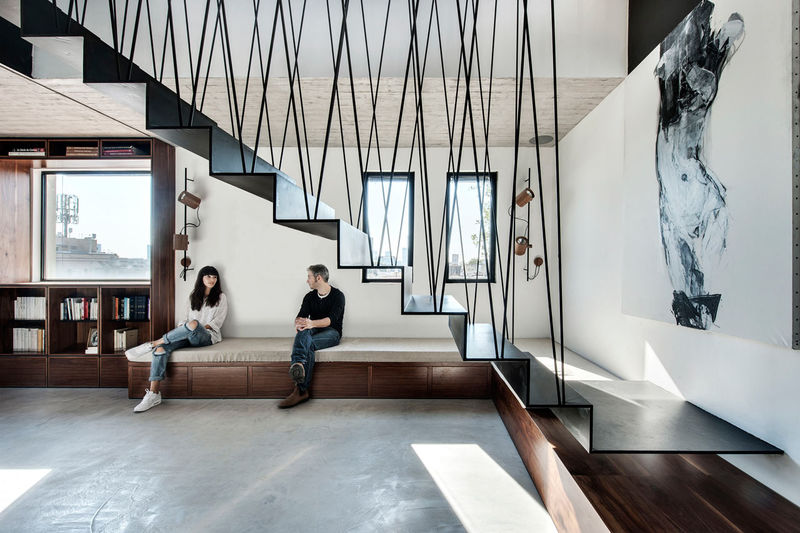 Modular Suspended Staircases
