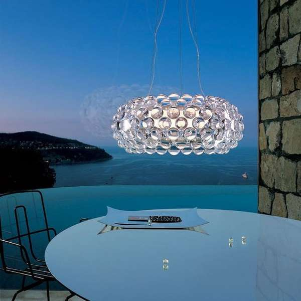 Bejewelled Hovering Lamps