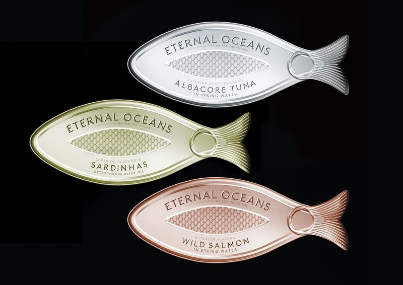 Fish-Shaped Tuna Branding