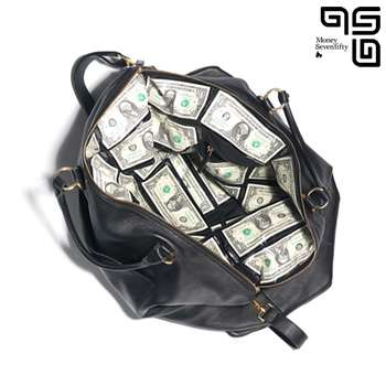 Money Bags: Swag Bag Lined in Real Bills