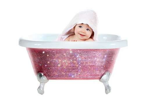 Swarovski Studded Baby Bathtub