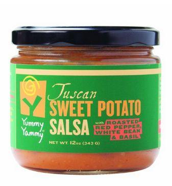 "Roasted Yam Salsas : ""sweet potato salsa"""