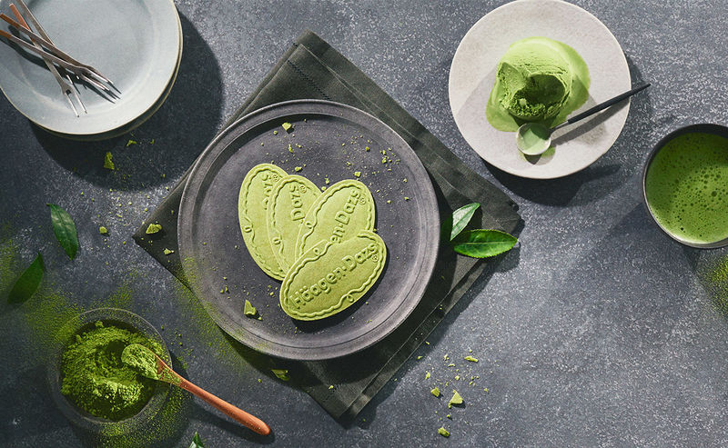 Chilled Matcha Biscuits