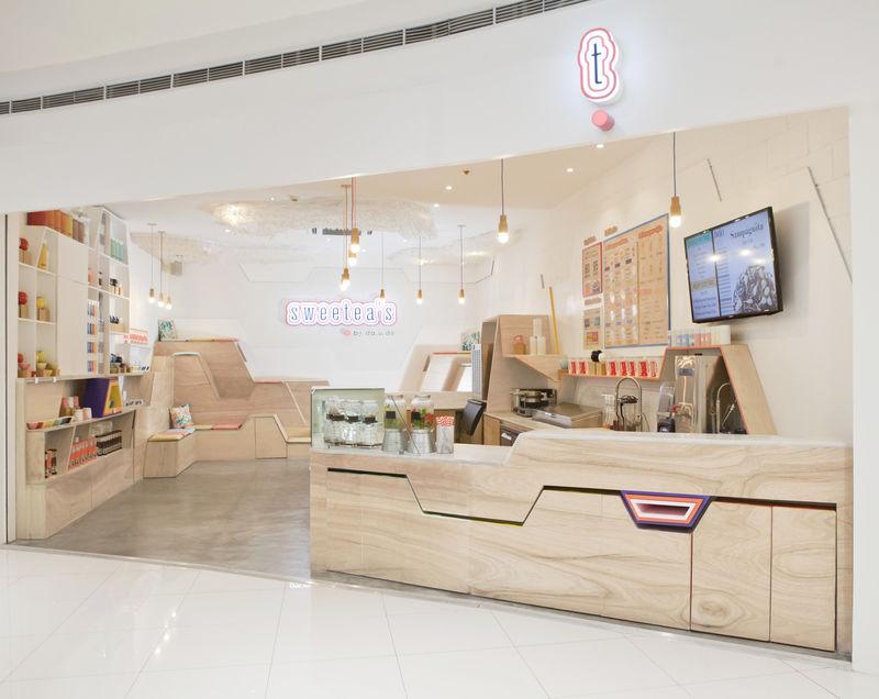Geometric Tea Shop Interiors