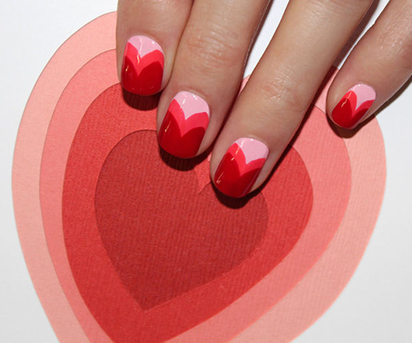 Layered Heart Manicures