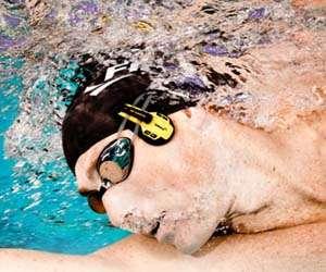 Submerged Swimmer Headphones
