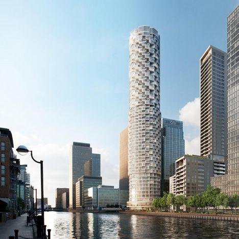 Cascading Cylindrical Towers Swiss Studio