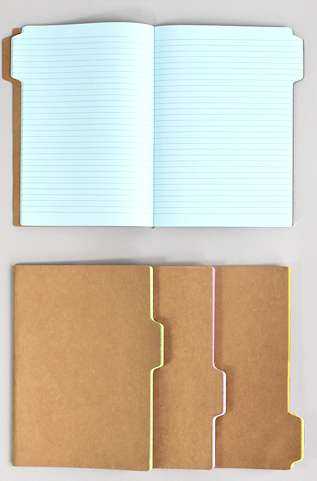 File Cabinet-Inspired Notebooks : tab notebook