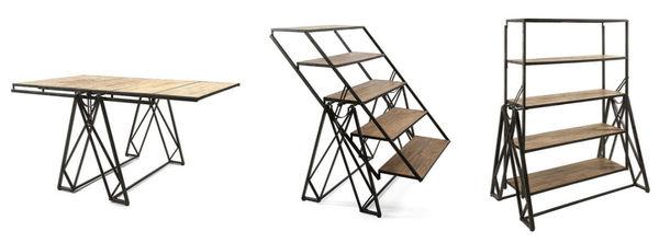 Transformative Table-Shelves