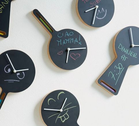 Magnetic Chalkboard Clocks