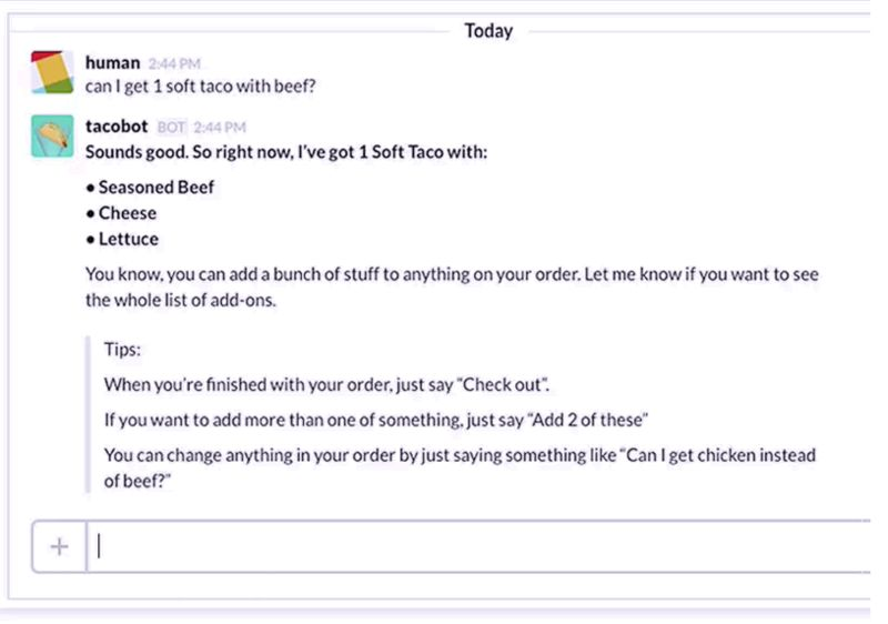 Chat Room Taco Deliveries