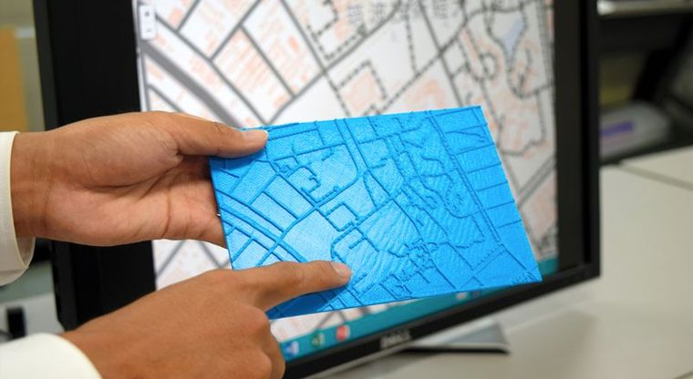 3D Printed Online Maps