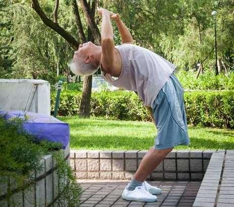 Endearing Elderly Exercise Portraits