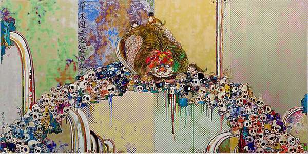 Colored Skeletal Artwork