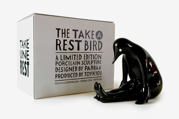 Take a Rest Sculpture Black Edition