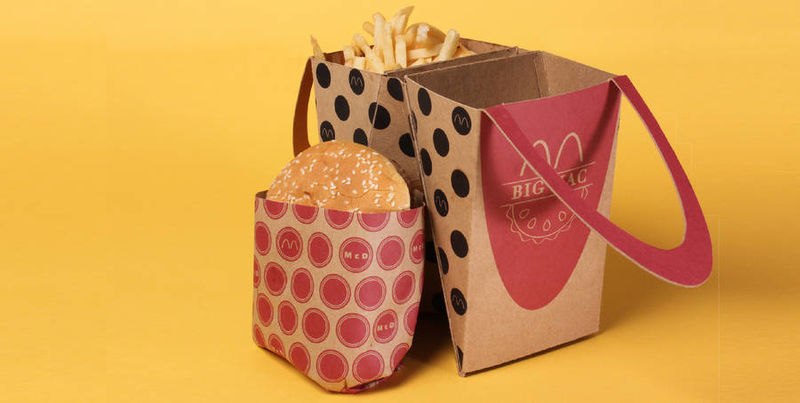 Handheld Hamburger Packaging
