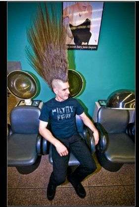 27 Inch Mohawks Eric Hahn S Record Breaking Hair