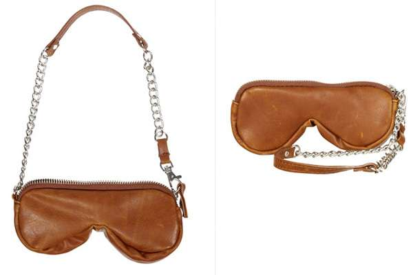 Tan Shaped Sunglasses Pouch