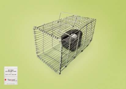 Caged Chair Ads