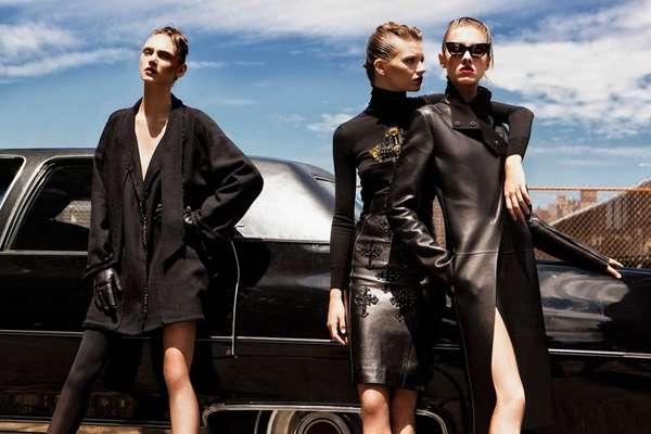 Leggy Leather Fashion
