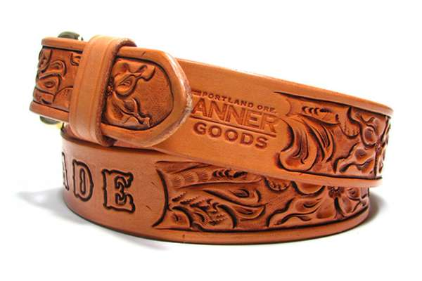 Tanner Goods Hand-Tooled Belt