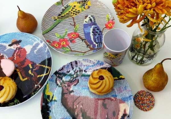 Needlework Pattern Plates