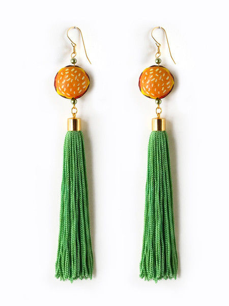 Food Embelished Tassel Earrings