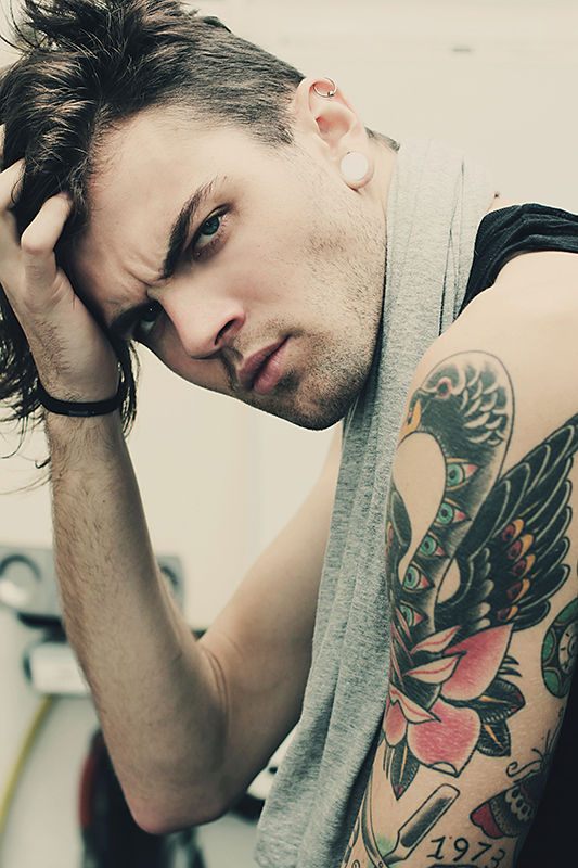 Sultry Tattooed Rocker Photography