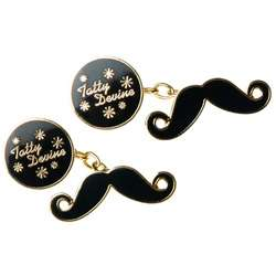 Tatty Devine Moustache Cufflinks