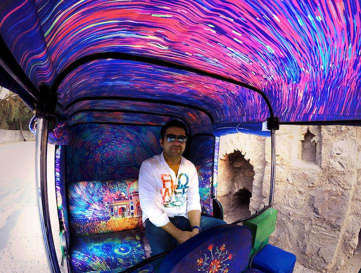 Artist-Inspired Rickshaws