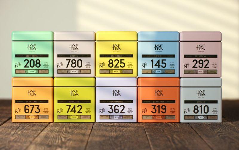 Numerical Tea Branding