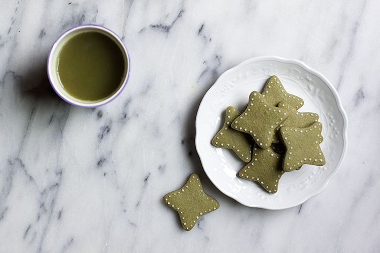 Matcha-Flavored Butter Cookies