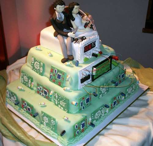 Geeky Baked Confections Tech Gear Wedding Cake