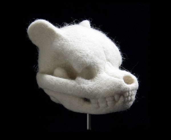 Spooky Stuffed Animal Skulls