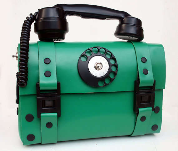 Steampunk Telephone Handbags