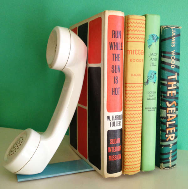 Quirky Telephone Bookends