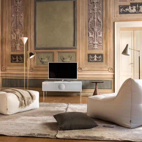 Speaker-Embedded Television Stands