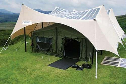 Solar-Powered Tents