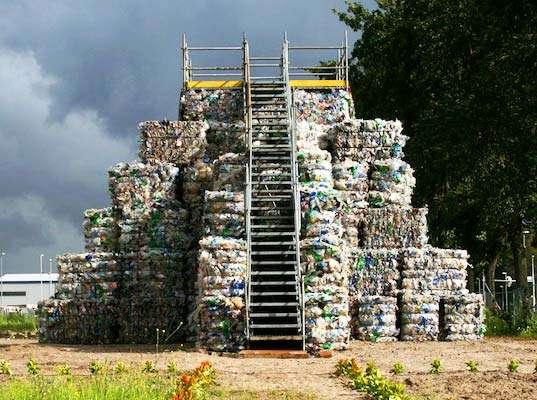 Plastic Bottle Pyramids