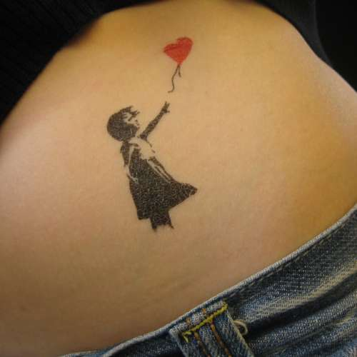 Temporary Banksy Tattoo Designs