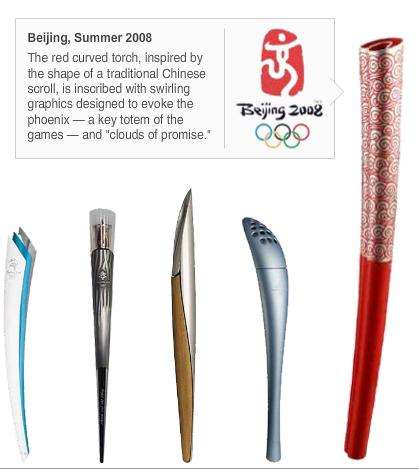 Ten Olympic Torches