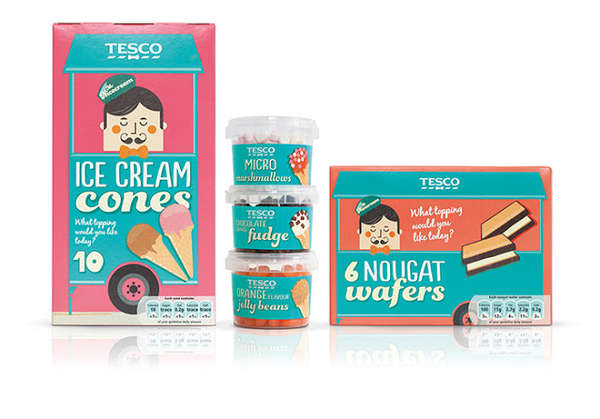 Tesco Mr. Nicecream Packaging