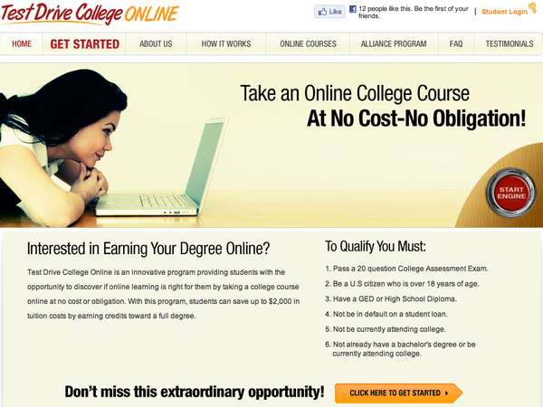 Test Drive College Online
