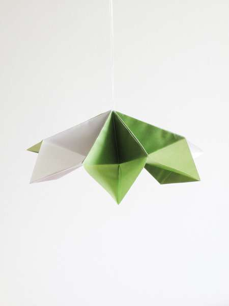 Leaf-Like Origami Lamps