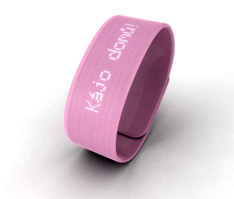 Text Message Wrist Bands