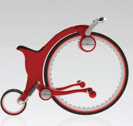 Penny-Farthing-Inspired Scooters