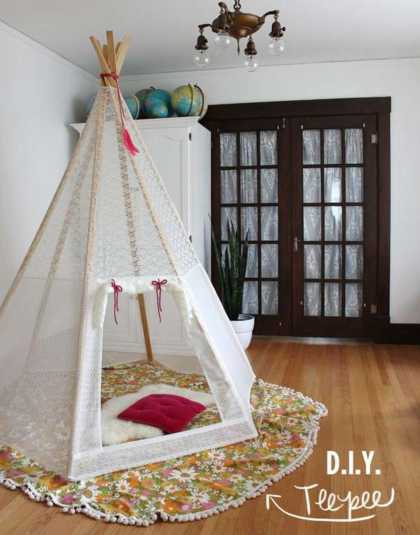 Homemade House Forts The A Beautiful Mess Diy Teepee